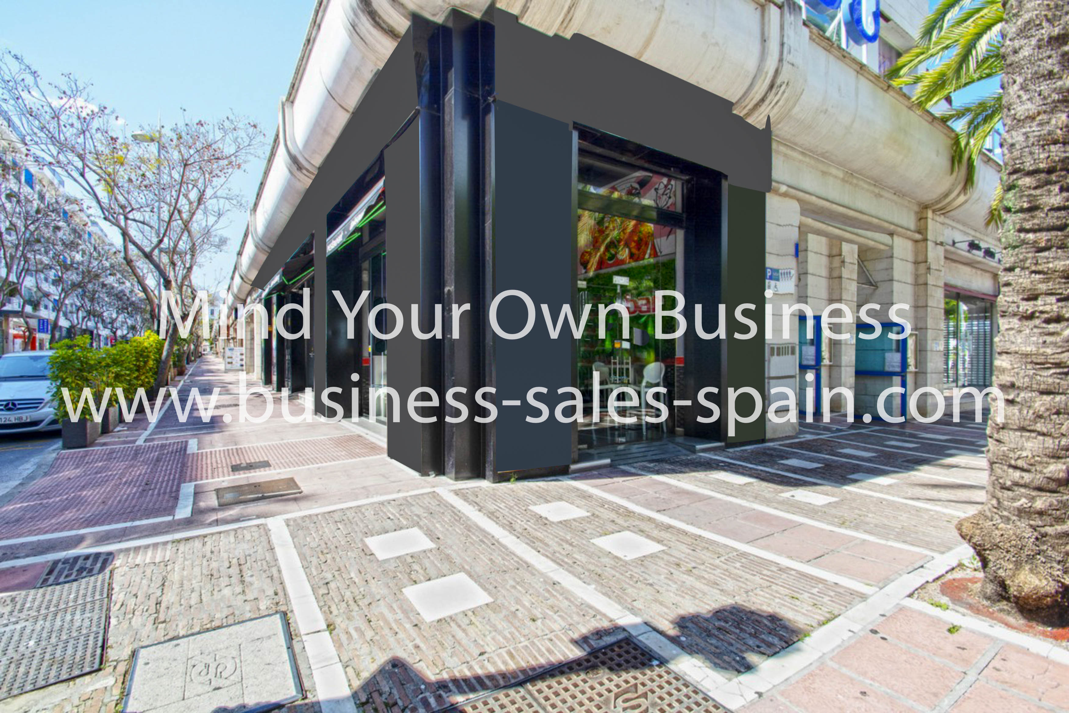 Freehold Premises Located in Highly Visible Position in Puerto Banus.
