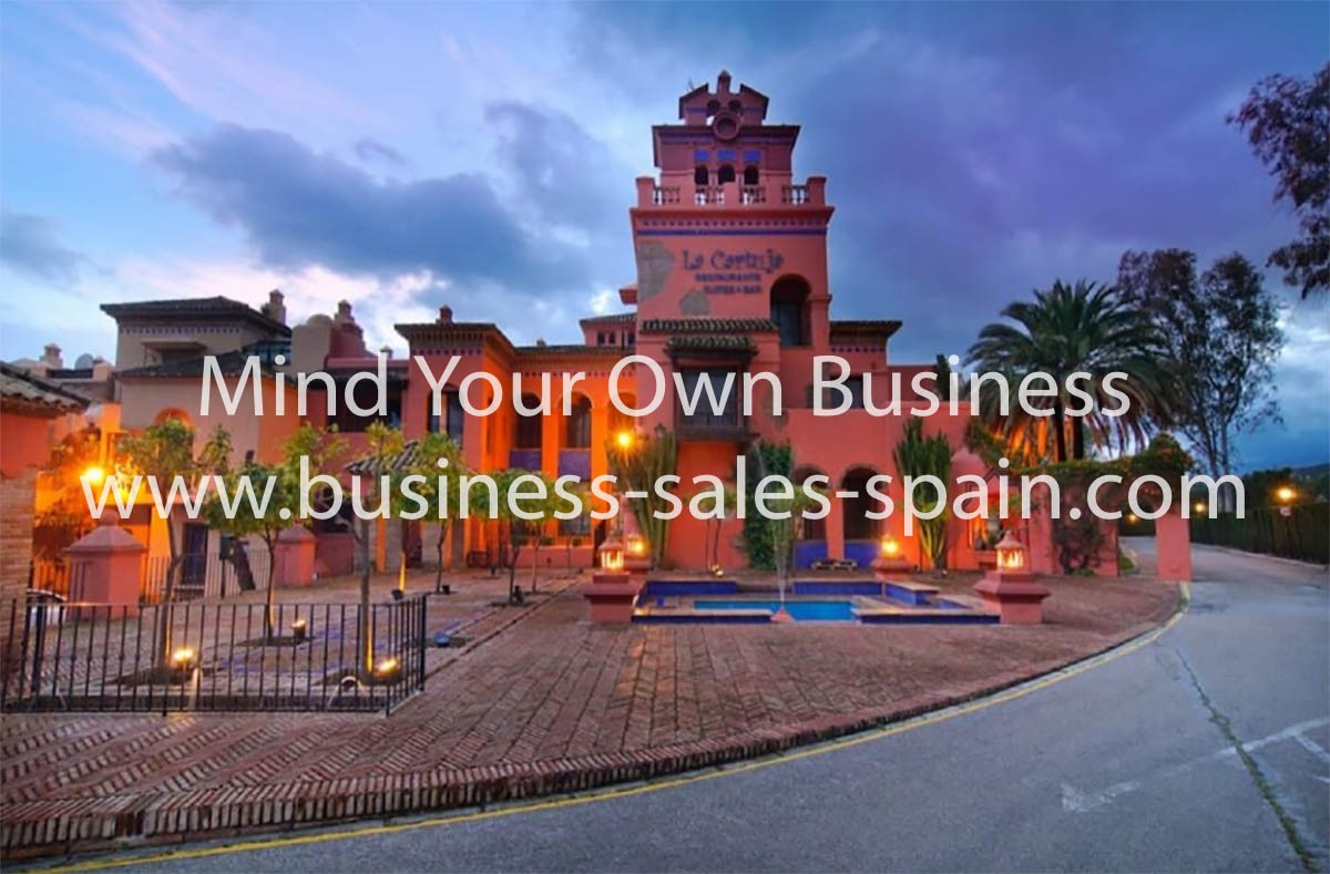 Boutique Hotel and Restaurant on Golf Course Between San Pedro and Estepona