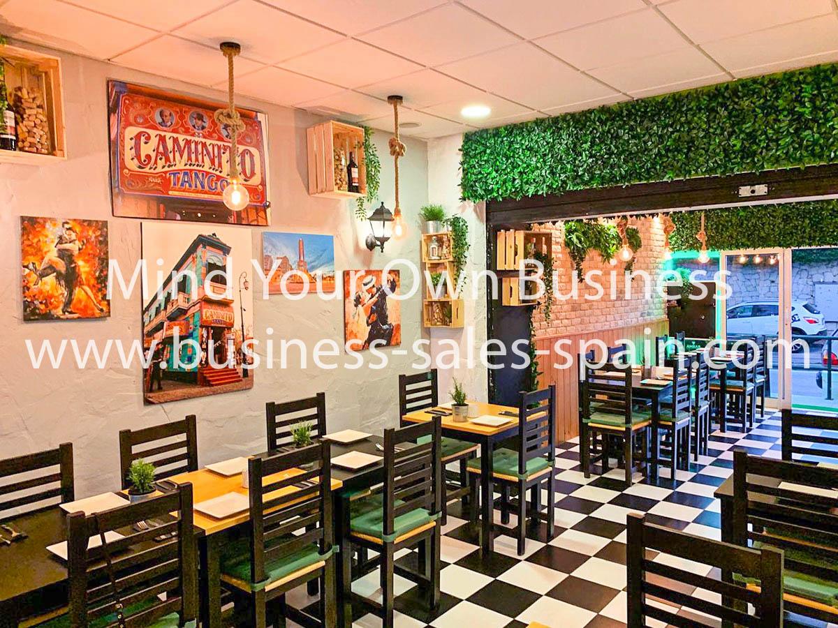 Refurbished Argentinian Style Steak House Restaurant In Prime Location In Mijas Costa.