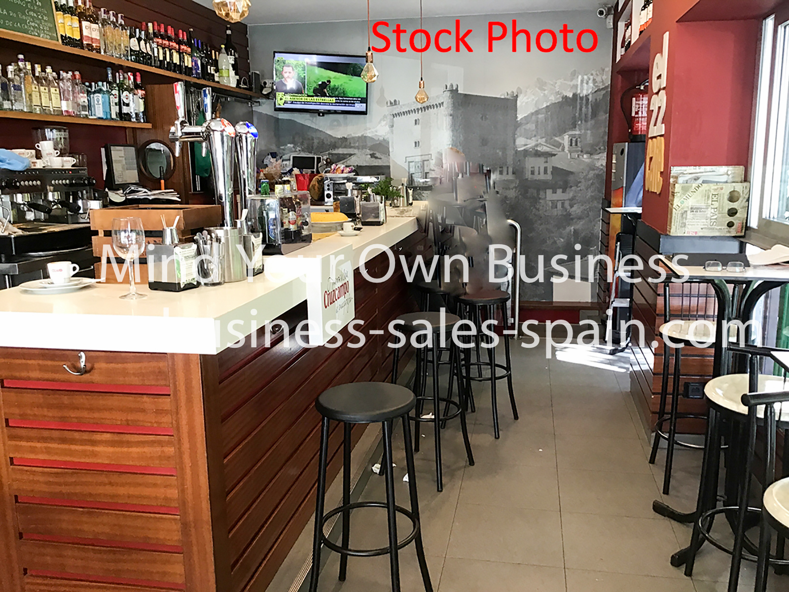 Busy Modern Cafe Bar for sale in Mijas Costa